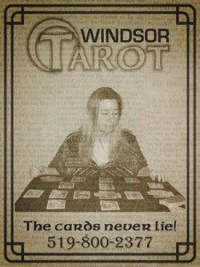 Old newspaper clipping Ad of Lady of Light with Tarot reading Price List