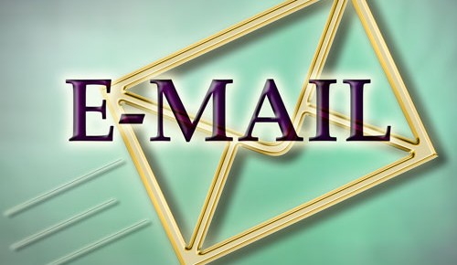 Email Reading flying envelope